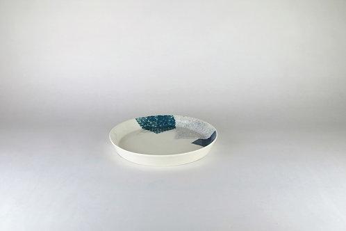 Petite assiette Bleu-vert/Gris