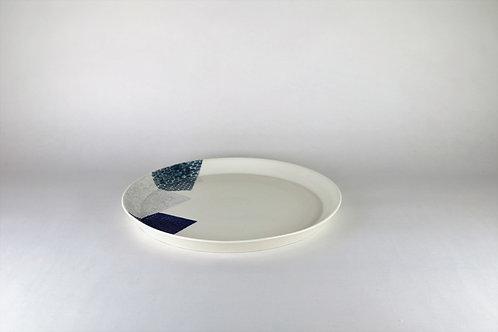 Grande assiette Cobalt/Gris