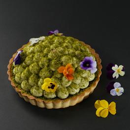 Pistachio Lava Chocolate Tart