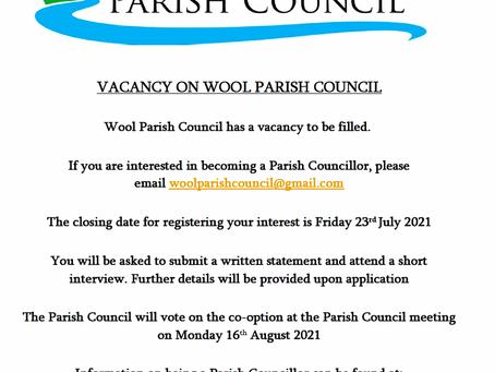 Vacancy for a Parish Councillor