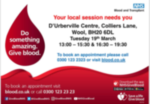 Give Blood at The D'Urberville