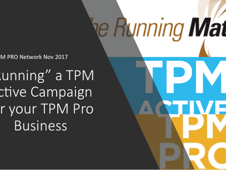 RUNNING AT THE TPM NETWORK - A BUSINESS AND TECHNICAL PERSPECTIVE