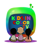 Kids in Color TV purple may and letters