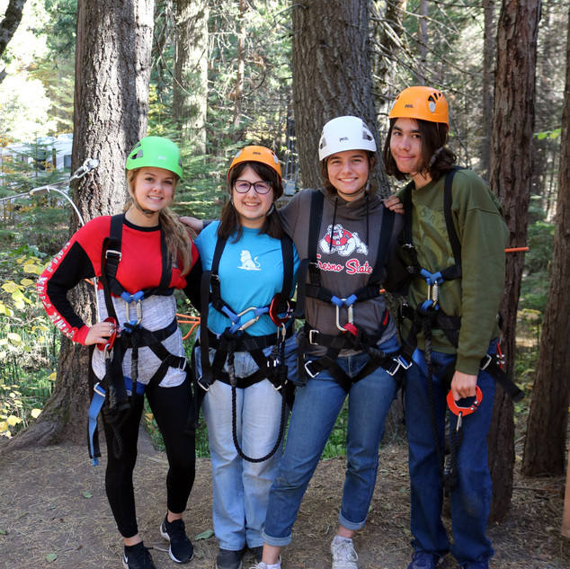 HS Camp High Ropes Laci Julia Kylie Noah