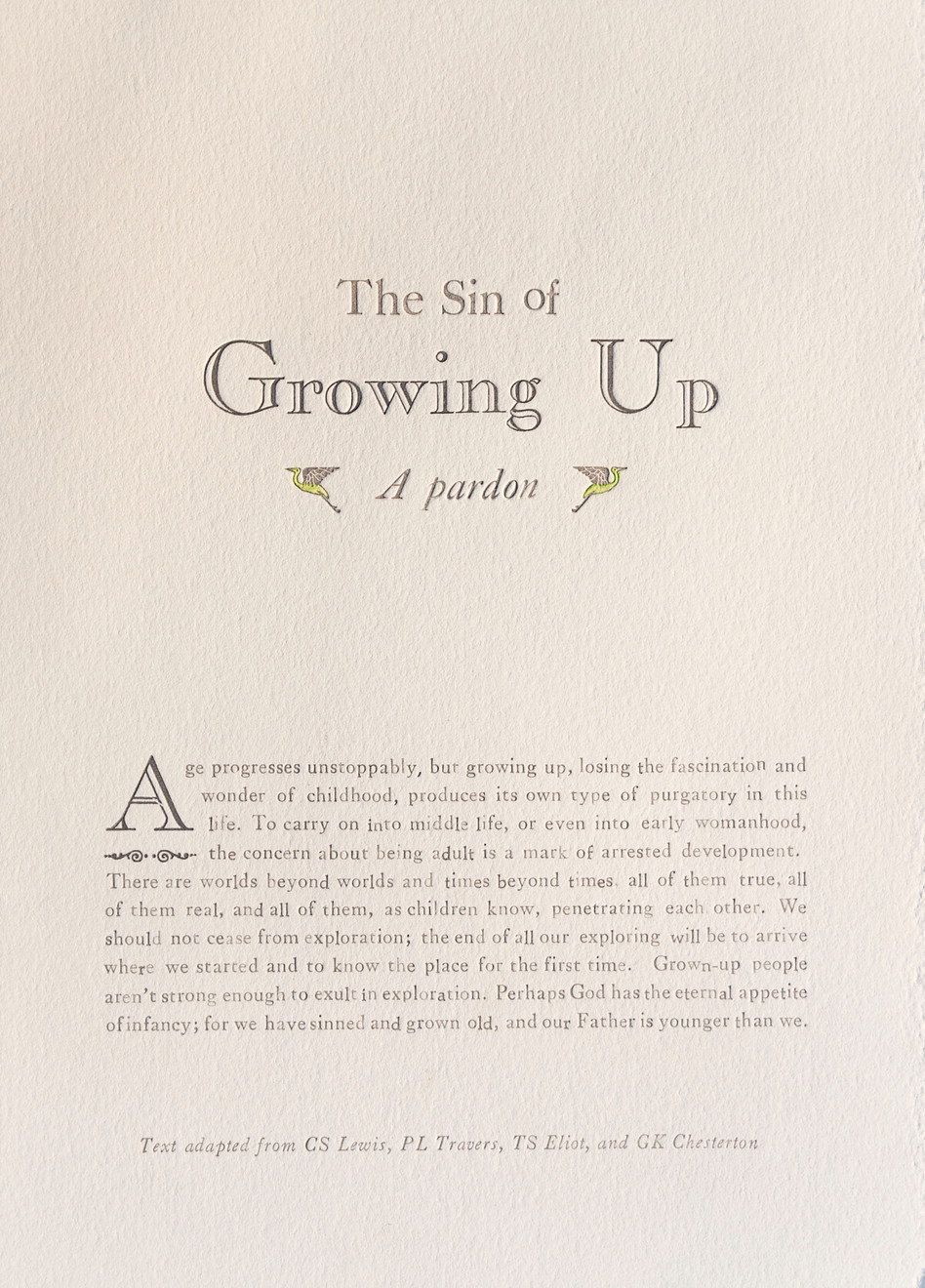 Sin of Growing Up
