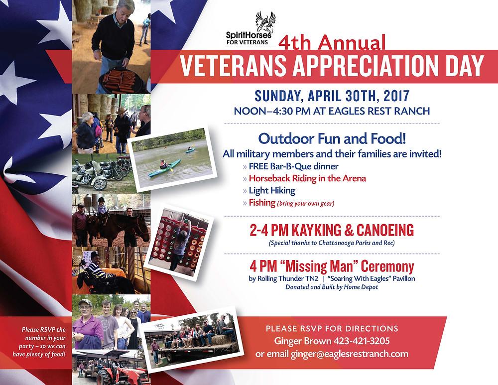 2017 Annual Veterans Appreciation Day- Please join us!
