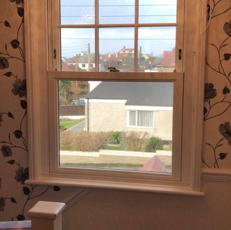 Classic white casement windows fitted in Bude Cornwall.
