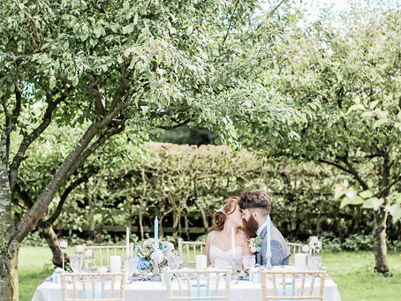 Wedding Planner Bedfordshire shares how to have a Dusty Blue Colour Palette at a Wedding in 2020