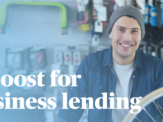 A boost for business lending