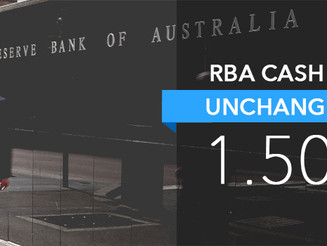 The RBA has left the official cash rate on hold at 1.5%.