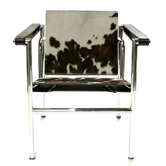 LC1 BASCULANT EASY CHAIR, COWHIDE