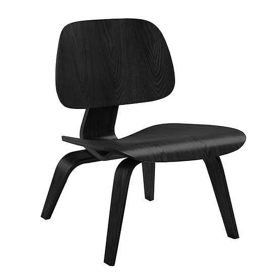 LOUNGE PLYWOOD CHAIR BLACK