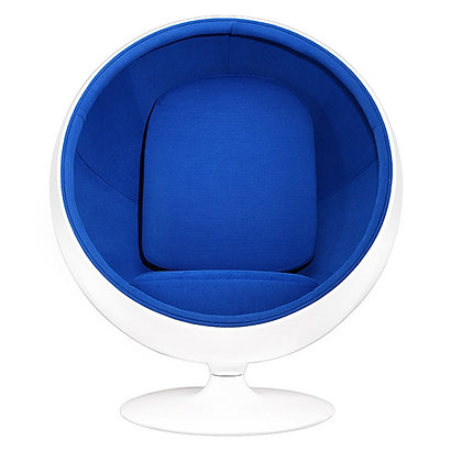 BALL CHAIR in blue -SPECIAL-