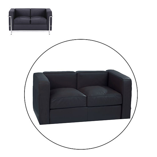 LC2 TWO SEATER, COMPLETE CUSHION SET