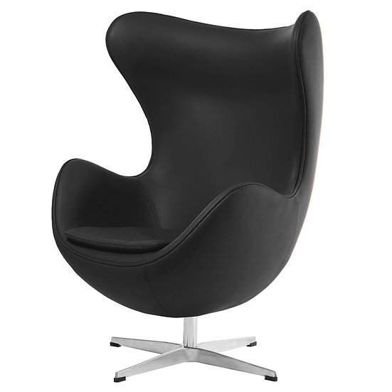 EGG CHAIR, LEATHER
