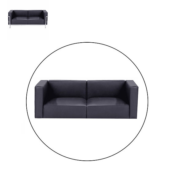 LC3 TWO SEATER SOFA, COMPLETE CUSHION SET