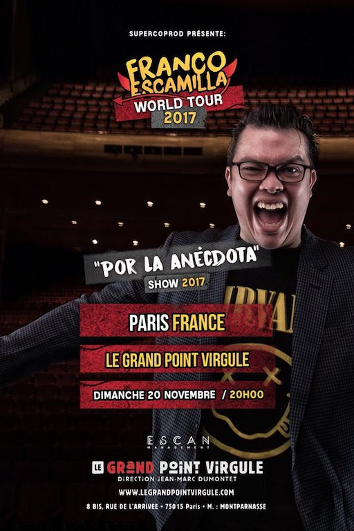 Affiche Franco Escamilla World Tour 2017