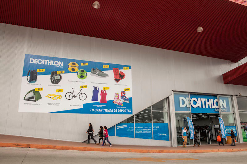 Magasin de Arco Norte, courtoisie de Decathlon Mexique