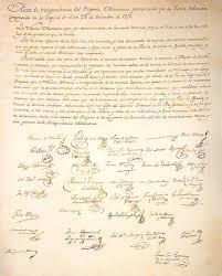 Acta de Independencia. Wikipedia