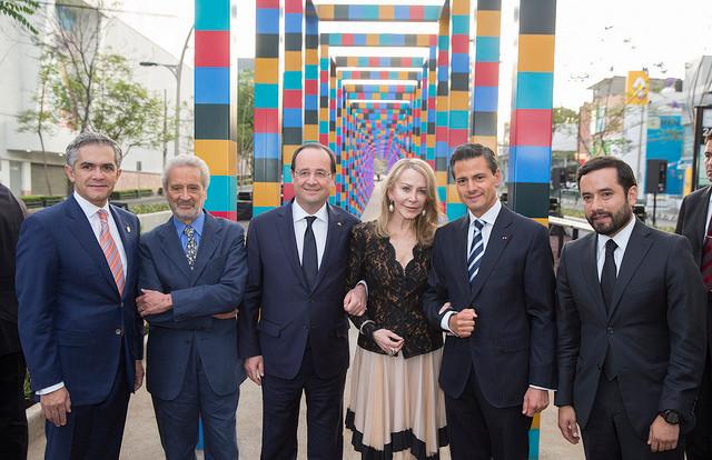 Inauguration de la Pergola Ixca Cienfuegos. Presidencia de la República Mexicana