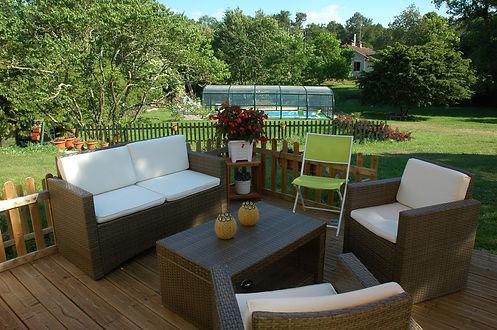 terrace swimming pool