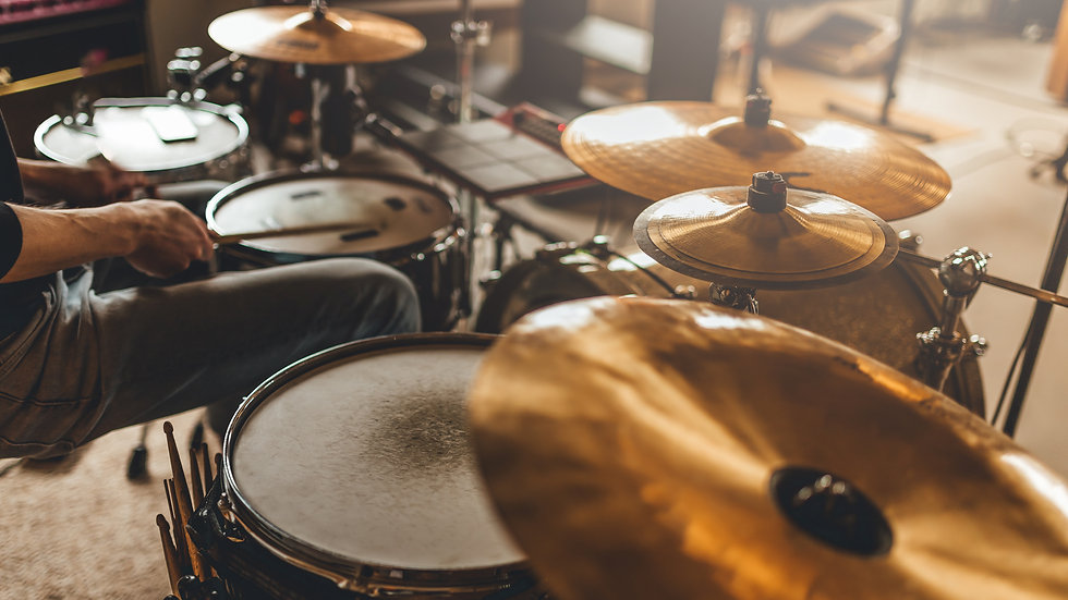 DRUMS individual 10 x 30 min lessons - open to all levels