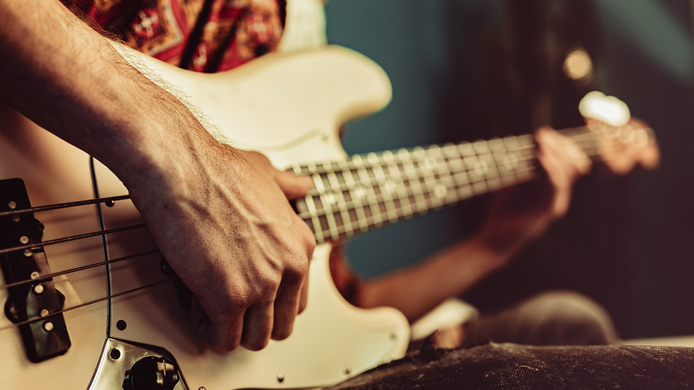 BASS GUITAR individual 10 x 30 min lessons - open to all levels