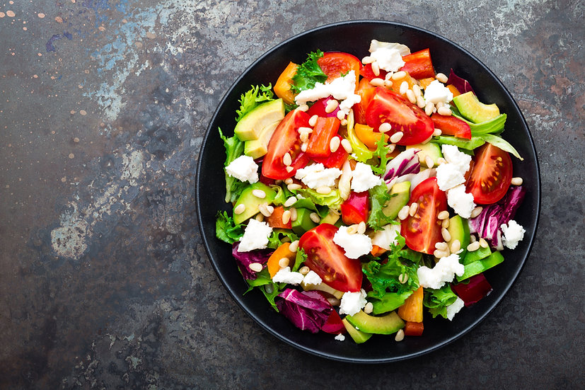 Warmer Salat von Rispentomate und Schafskäse