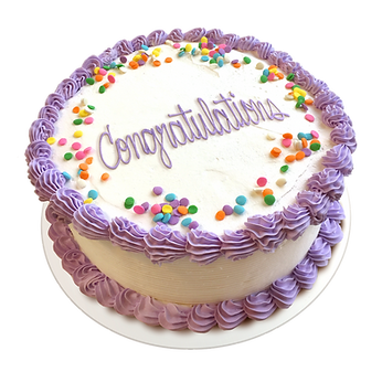 goji's congratulations cake
