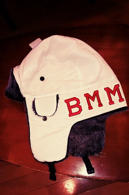 BMM WHITE/RED TROOPER BOMBER
