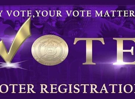 Theta Omega Organizes Voter Registrations