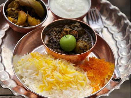 Gojesabz (sour green plum) Stew