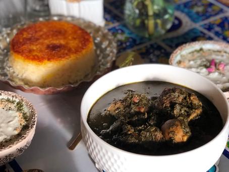 Heavenly Ghorme Sabzi Stew with Dried Herbs