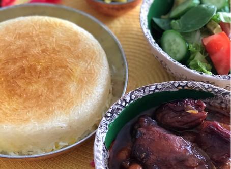 Dried Plum Chicken Stew with Pomegranate Sauce