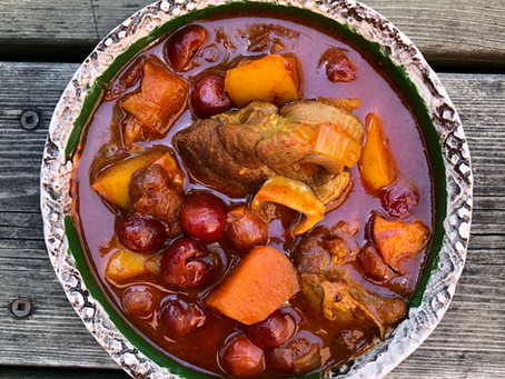 Sour Cherry Apple Stew
