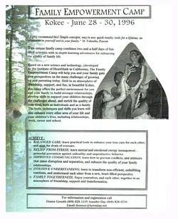 1996 Family Retreats
