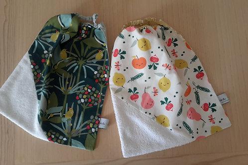 Serviettes élastiquées coton