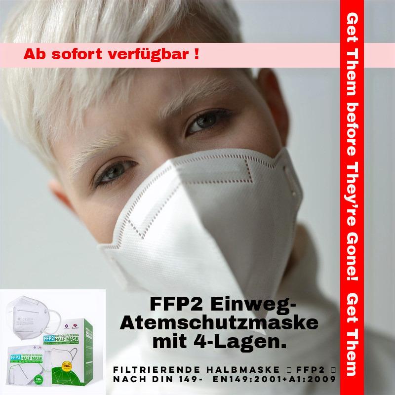 SQ Einweg-Atemschutzmaske FFP2 - nach DIN 149