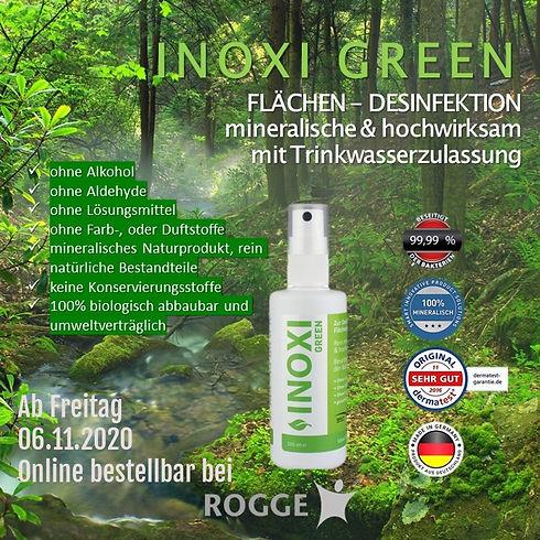 INOXI GREEN Desinfektion