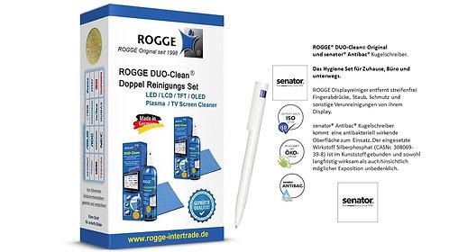 ROGGE DUO-Clean Doppel Set & senator Antibac Kugelschreiber