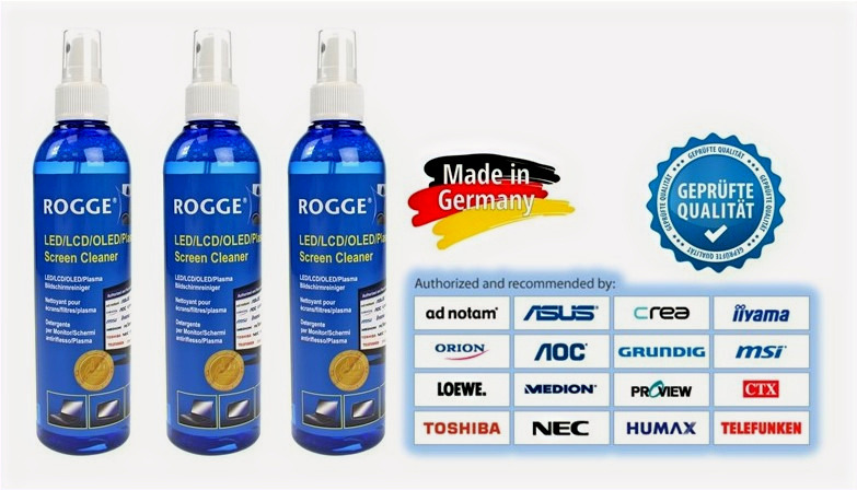 3x ROGGE Screen Cleaner 250ml - Nachfüllbar / 10009