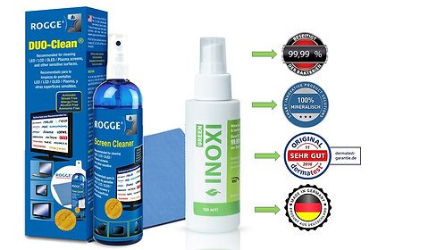 INOXI GREEN 100ml Sprüh-FLächendesinfektion & ROGGE DUO-Clean Original