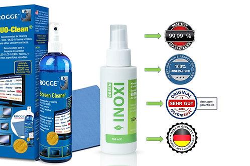 INOXI GREEN 100ml Sprüh-FLächendesinfektion & ROGGE DUO-Clean Original