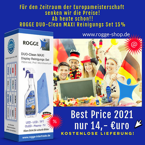 ROGGE DUO-Clean MAXI 750ml Screen Cleaner inkl. 1 Microfasertuch
