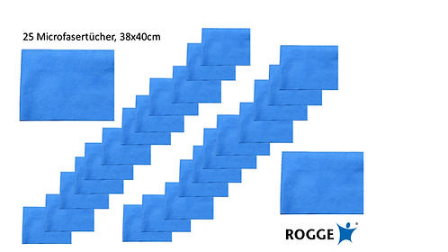 "25er Pack ROGGE Microfasertücher ""Super Clean TEC"" 38x40cm"