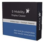 E-Mobitity Widescreen-Cockpit-DisplayCleaner. 50ml inkl. 4 Microfasertücher.