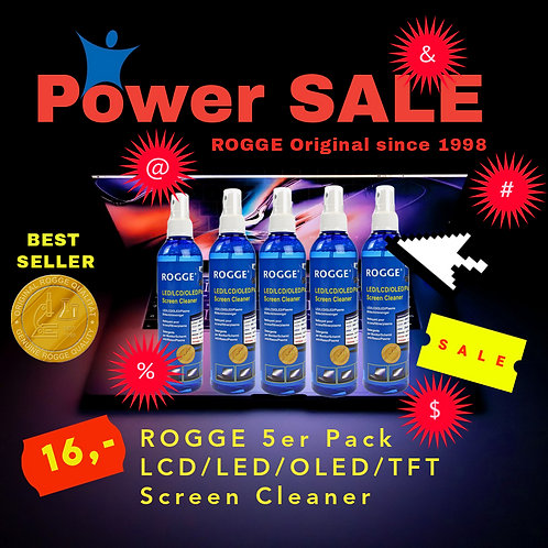 ROGGE 5er Pack LCD-TFT-LED-OLED Screen Cleaner