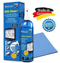 ROGGE DUO-Clean Original. 250ml Screen Cleaner inkl. 1 Prof. Microfasertuch.