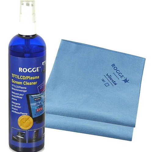 ROGGE 250ml Screen Cleaner inkl. 2 Prof. Microfasertücher 38x40cm