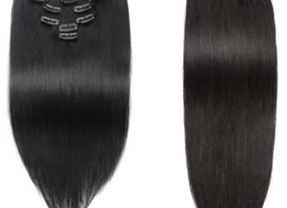 Mink Straight Clip-In